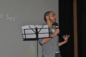 Adam Lowe premiered his latest writing 'Slam Poem'